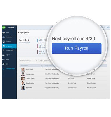 Run payroll screen