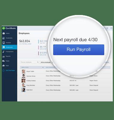 Run payroll screen