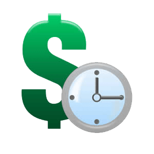 money and time icons