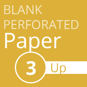 Blank perforated paper - 3 up