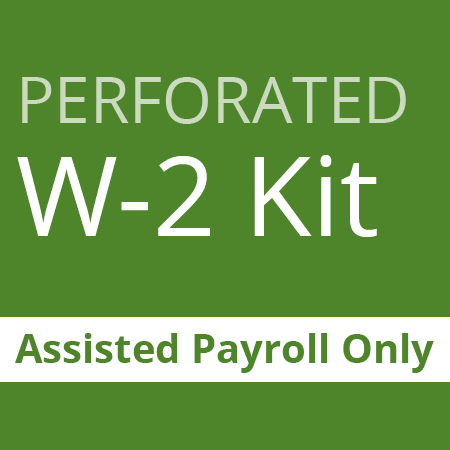 Perforated W2 kit - assisted payroll only