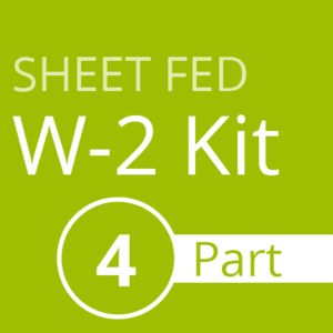 Sheet Fed W2 Kit (4 part)