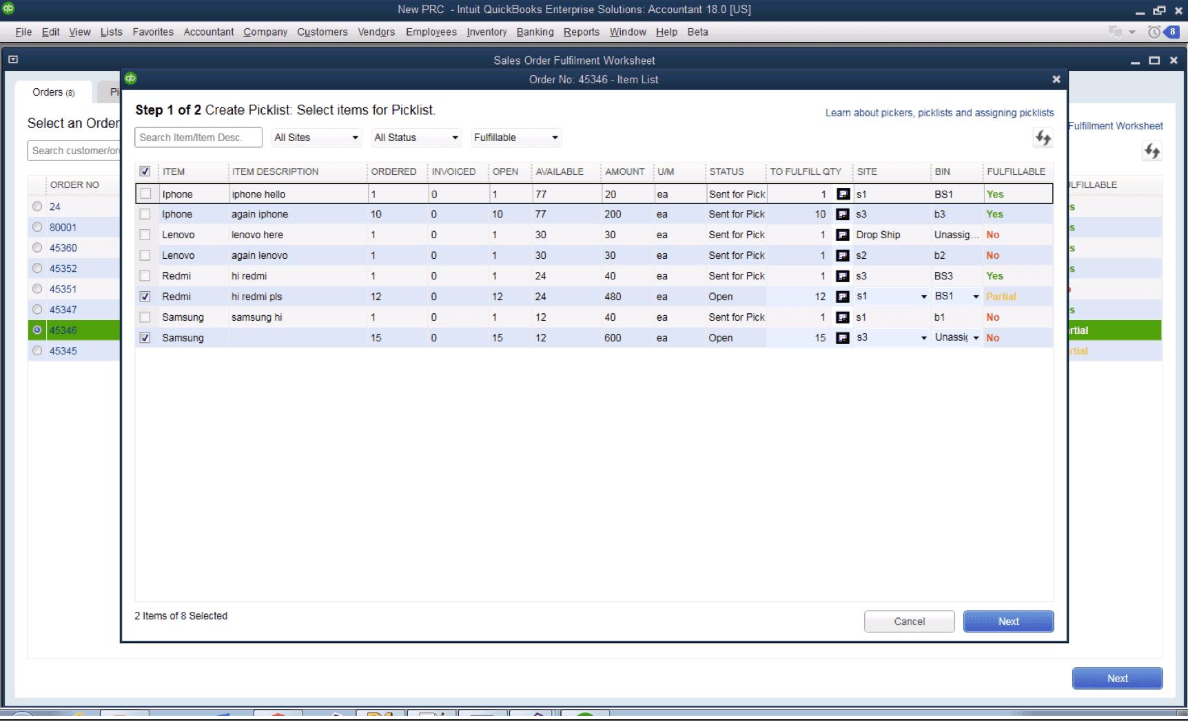 QuickBooks Advanced Inventory for QuickBooks Enterprise